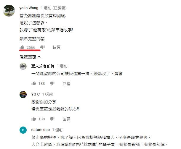 網友Yolin Wang分享女友故事網友熱烈回響示意圖
