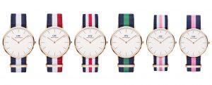 (Daniel Wellington 平價的精緻設計、極簡風手錶,以及可替換的各色尼龍錶帶。/圖:取自 Tools & Toys )