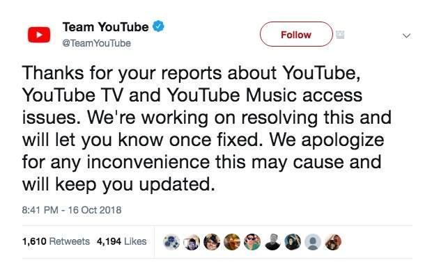 Youtuber 官方於 Twitter 回應網友。