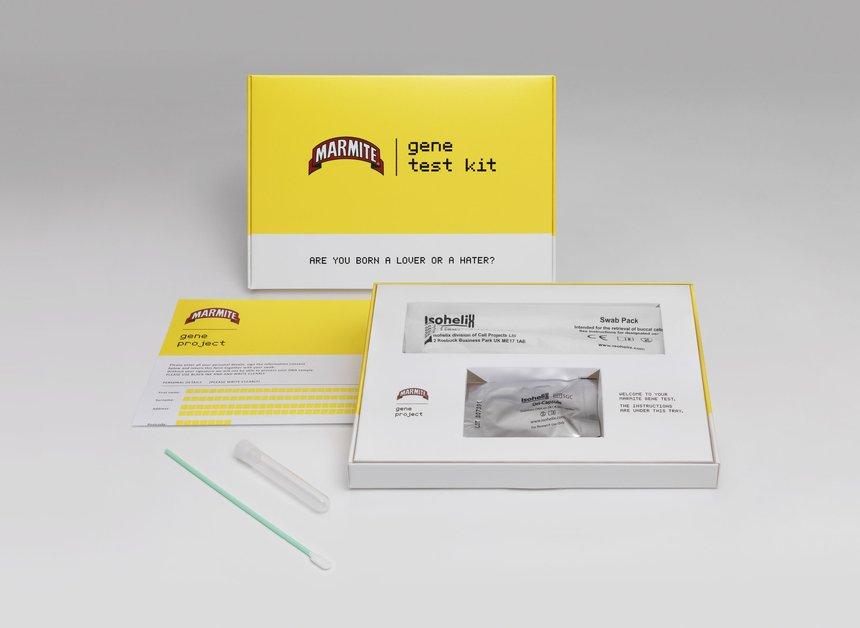 (馬麥醬推出的「基因檢測包」/圖:取自 D&AD)