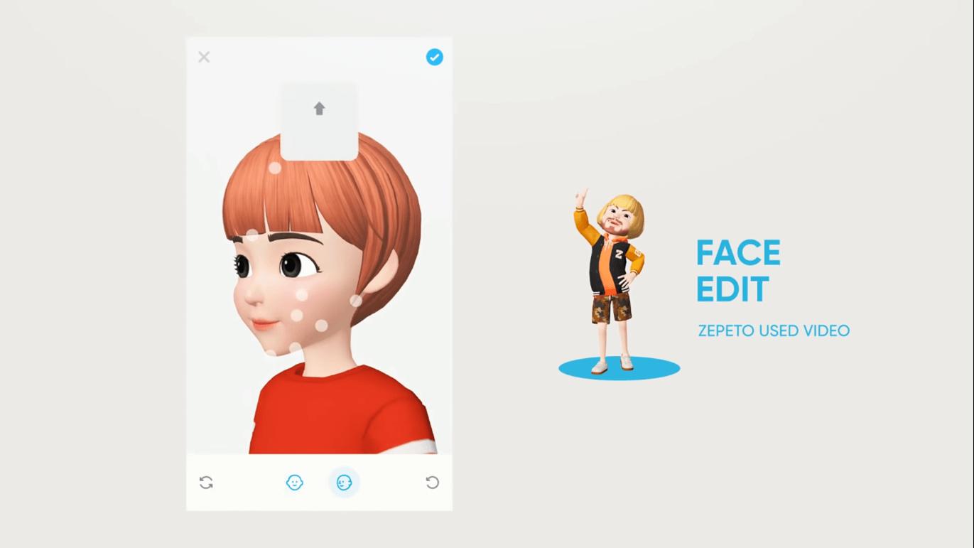 (玩家可以挑選臉蛋、頭髮、眉毛、睫毛、眼睛與鼻子等造型,連雀斑也可以微調。/圖:取自 ZEPETO Official YouTube)