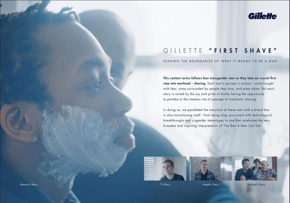 吉利刮鬍刀品牌廣告「第一次刮鬍子」|廣告創意