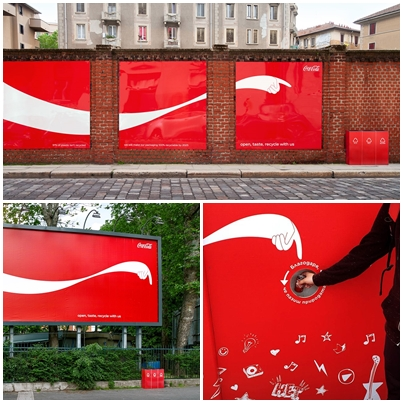 義大利可口可樂戶外廣告|廣告創意