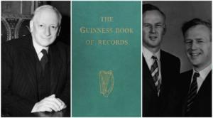 (左至右:Sir Hugh Beaver, 第一本Guinness World Records, McWhirter兄弟/圖:Guinness World Records)