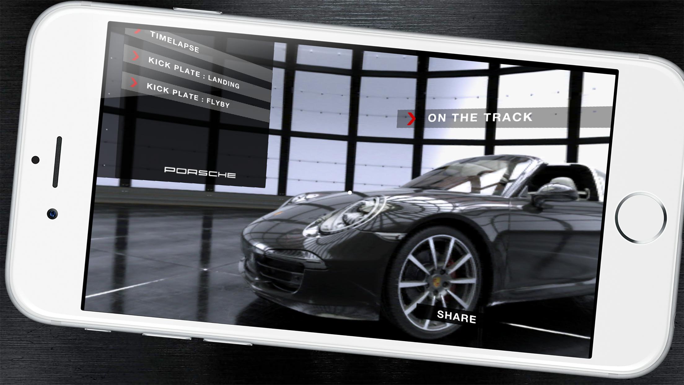 保時捷開發虛擬實境APP,體驗車款的極致工藝。/圖:Shorty Awards