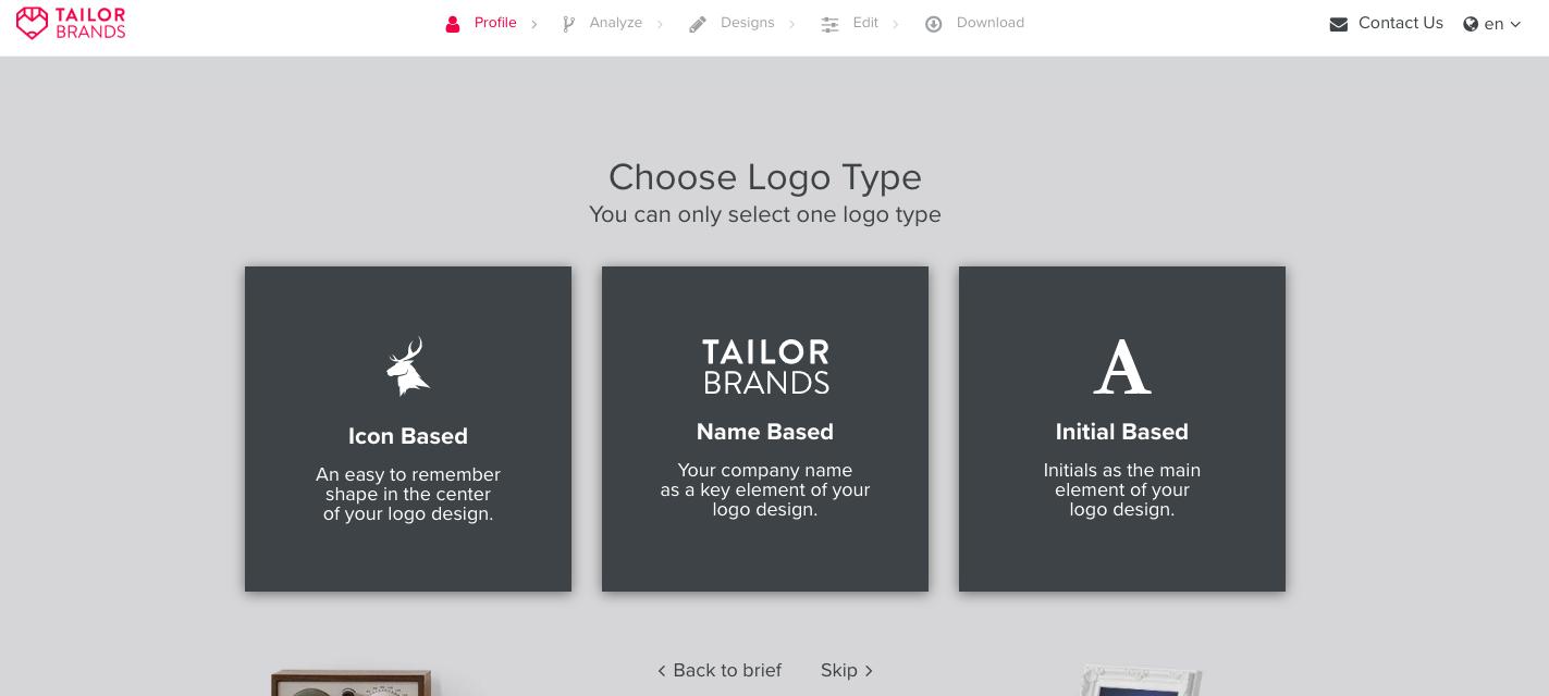 接著選擇偏好的設計風格。