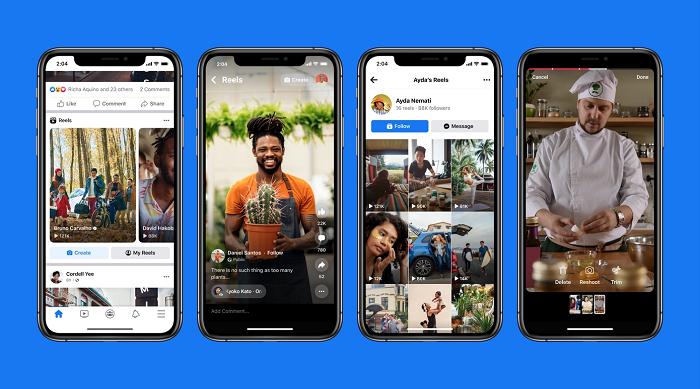 Facebook App Instagram Reels